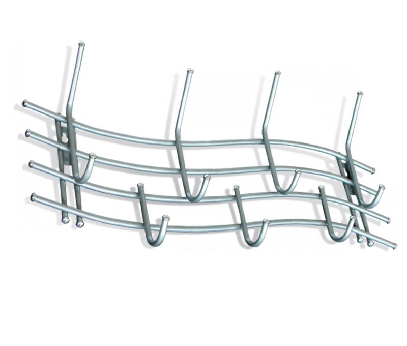 Вешалка настенная Sheffilton Волна 5, цвет: серый, серебристый, 80 см х 12 см х 35 смВ2-21-5Настенная вешалка Sheffilton Волна 5 - стильное решение в экономии пространства дома и в офисе. Изделие выполнено из металла, фурнитура пластиковая. Порошковая окраска изделия делает его устойчивым к механическим повреждениям. Вешалка имеет 7 крючков для размещения верхней одежды, головных уборов и аксессуаров. Такая вешалка стильно дополнит интерьер прихожей и поможет экономично организовать пространство. Максимальная нагрузка на крючок: 5 кг.