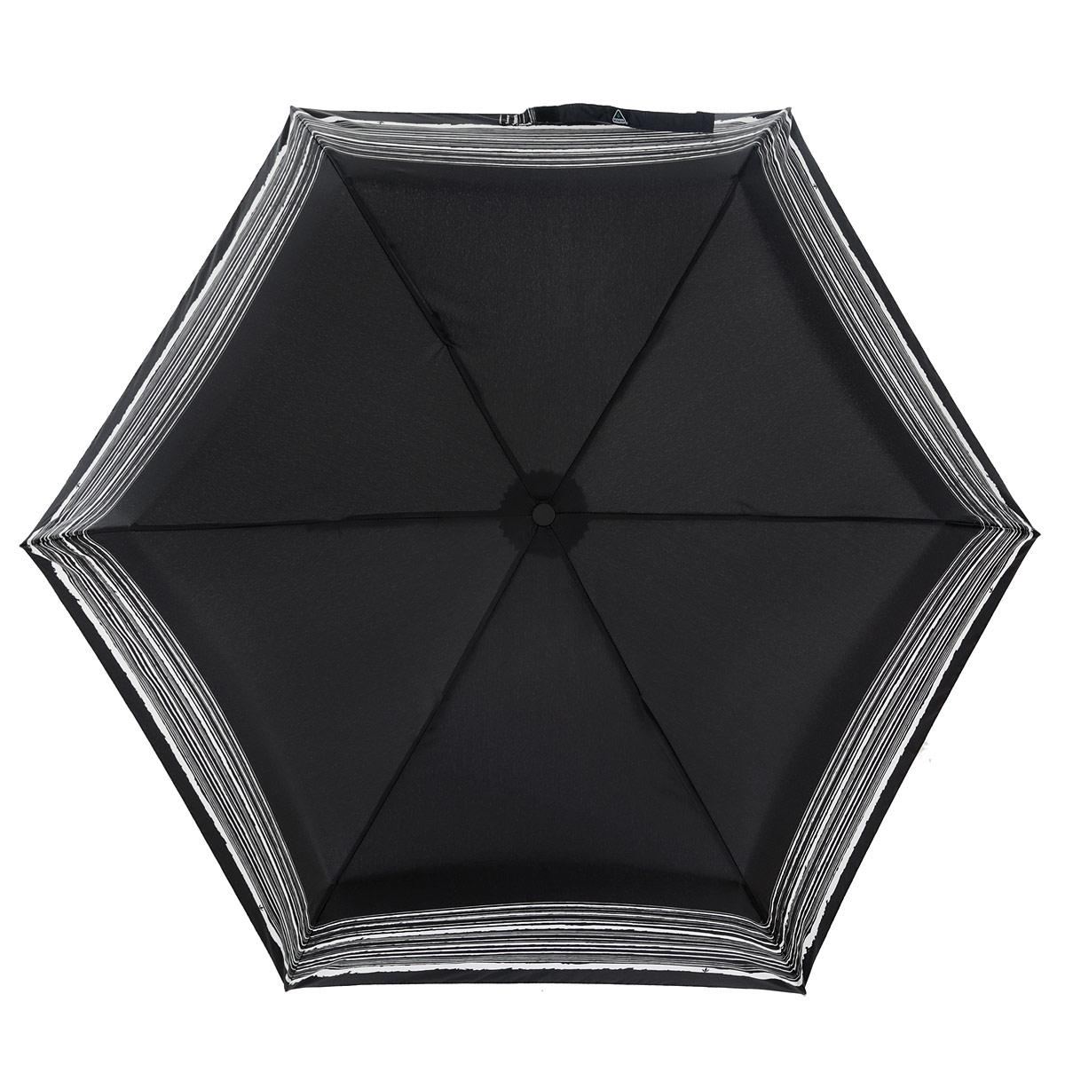 Зонт женский Fulton Superslim-2. Trio, механический, 3 сложения, цвет: черный, белый. L780-2896L780-2896Модный механический зонт Superslim-2. Trio даже в ненастную погоду позволит вам оставаться стильной и элегантной. Каркас зонта состоит из 8 спиц из фибергласса и металлического стержня. Купол зонта выполнен из прочного полиэстера. Изделие оснащено тремя сменными рукоятками из пластика, кожи и дерева. Зонт механического сложения: купол открывается и закрывается вручную до характерного щелчка. Модель закрывается при помощи одного ремня с липучкой. К зонту прилагается чехол на липучке. Модный зонтик комплектуется картонной коробкой с прозрачным пластиковым окошком. Такой зонт не только надежно защитит вас от дождя, но и станет стильным аксессуаром, который идеально подчеркнет ваш неповторимый образ.