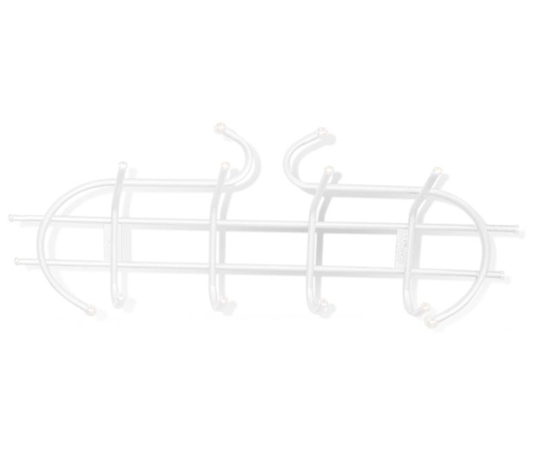 Вешалка настенная Sheffilton Уют 1/4, цвет: белый, 4 крючкаВ2-6-1Настенная вешалка Sheffilton Уют 1/4, изготовленная из металла, - это стильное решение для дома и офиса в экономии пространства. Вешалка имеет 4 парных крючка, на которые вы сможете повесить одежду, сумку или шарфы. На крючках имеются декоративные пластиковые наконечники. Вешалка покрыта порошковой окраской, стойкой к механическим повреждениям. Крепится к стене при помощи двух шурупов (не входят в комплект). Максимальная нагрузка на крючок: 5 кг.