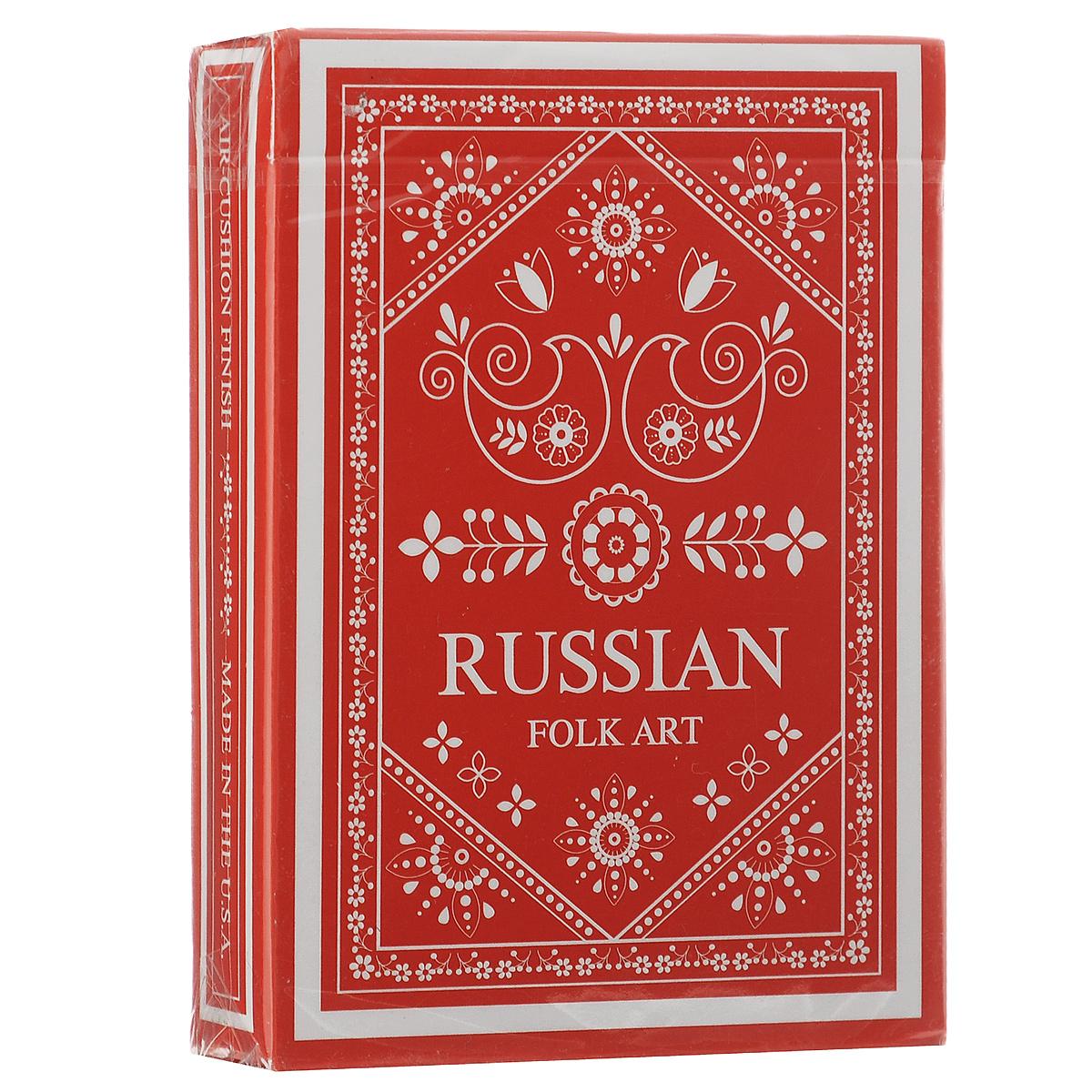 Карты игральные коллекционные Народное искусство России, цвет: красный, белыйК-470Вдохновением на создание этой колоды послужил русский фольклор. На картинках изображены традиционные русские символы.