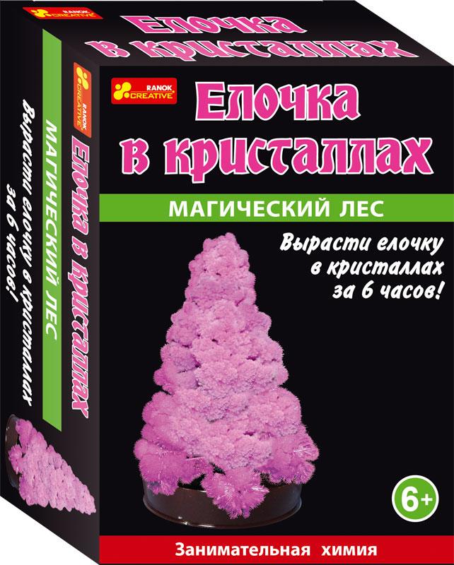 Елочка в кристаллах (розовая) - Сад пушистых кристаллов