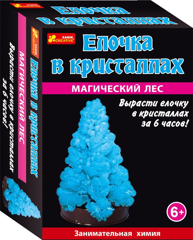 Елочка в кристаллах (синяя) - Сад пушистых кристаллов