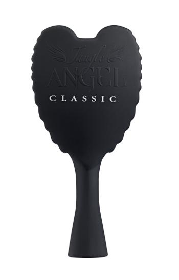 TANGLE ANGEL CLASSIC Щетка для волос тон Black21012Новая профессиональная щетка, позволяющая легко, элегантно и безболезненно распутывать даже самые непослушные волосы. Обладая теплостойким, антибактериальным и антистатическим свойствами, она также ценится за фантастический внешний вид: ее оборотная сторона повторяет очертания крыльев ангела. Продукт подходит для всех типов волос и делает их гладкими и шелковистыми.