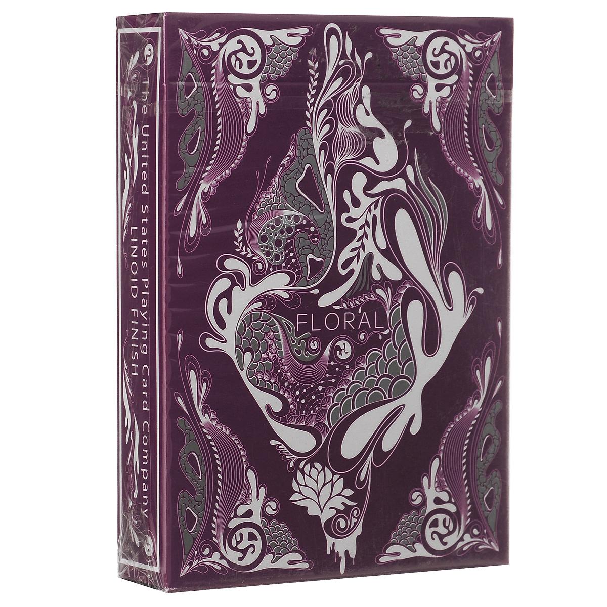 Игральные карты Aloy Design Studio Цветочная колода, цвет: фиолетовыйК-315Цветочная колода от молодого иллюстратора Aloys Design Studio Иоланды. Это оригинальное произведение искусства, на дизайн было потрачено 1800 часов. Металлические чернила на коробке, рубашках и лицах.
