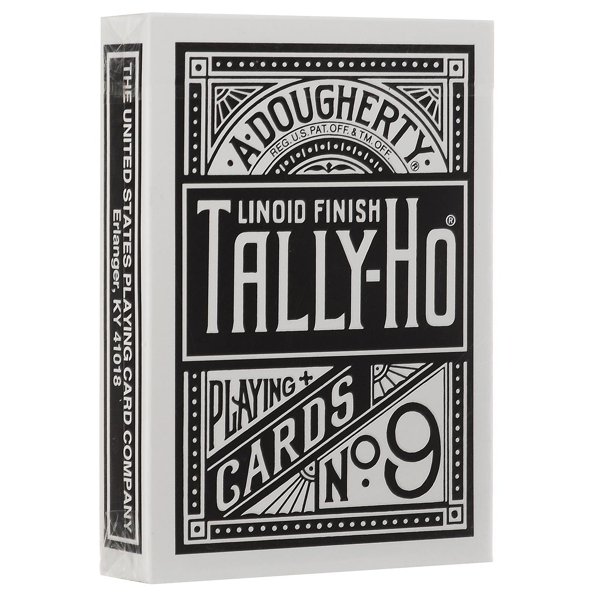Игральные карты Tally-Ho Reverse Fan back, цвет: черныйК-064Карты Tally-Ho считаются самыми лучшими картами для слейтинга. Их великолепное качество высоко оценили лучшие карточные манипуляторы и фокусники. Это классические карты с полноцветной печатью. В комплекте две специальные карты (карта с пустым лицом и карта с изображением розы).