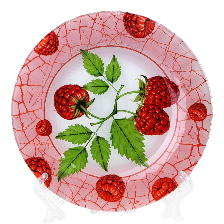 Тарелка House & Holder Малина, диаметр 25 смS3010EF191Круглая тарелка House & Holder Малина, изготовленная из стекла, декорирована ярким изображением. Такая тарелка украсит сервировку вашего стола и подчеркнет прекрасный вкус хозяина, а также станет отличным подарком. Диаметр: 25 см. Высота: 1,9 см.