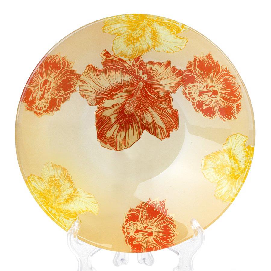 Салатник House & Holder Цветы, диаметр 15 смS302006G008Круглый салатник House & Holder Цветы, изготовленный из стекла, декорирован ярким изображением. Такой салатник украсит сервировку вашего стола и подчеркнет прекрасный вкус хозяина, а также станет отличным подарком. Диаметр: 15 см. Высота: 4 см.