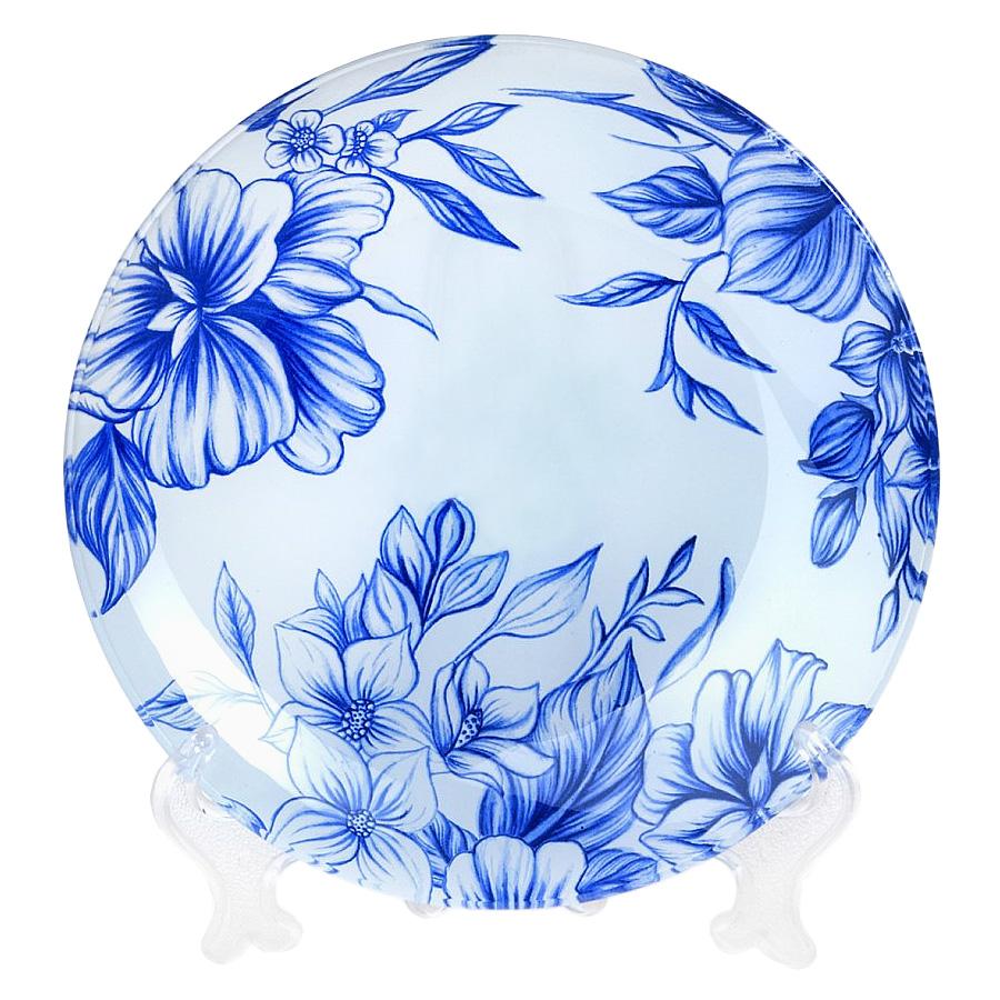Салатник House & Holder Синие цветы, диаметр 20,5 см. S302008NF114S302008NF114Круглый салатник House & Holder Синие цветы, изготовленный из стекла, декорирован ярким изображением. Такой салатник украсит сервировку вашего стола и подчеркнет прекрасный вкус хозяина, а также станет отличным подарком. Диаметр: 20,5 см. Высота: 3,2 см.