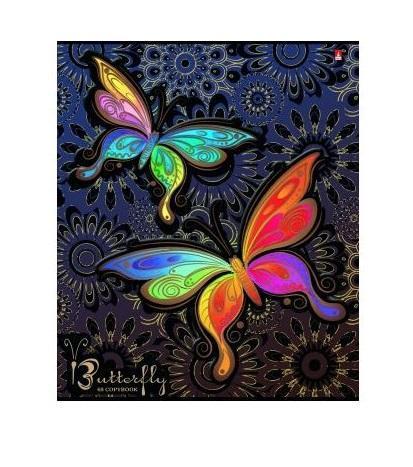 Набор тетрадей Радужные бабочки, 48 листов, формат А5, 5 шт7-48-1021Завораживающая красота живого мира передана в серии тетрадей Радужные бабочки. Для обложек формата А5 использован чистоцеллюлозный картон повышенной плотности. Во избежание заломов, износа, уголкам придана скругленная форма. При раскрывании двойной обложки можно увидеть полноцветный форзац с полем для персонализации. Внутренний блок содержит 48 листов, зафиксированных металлическими скрепками. Белая мелованная бумага разлинована в клетку.