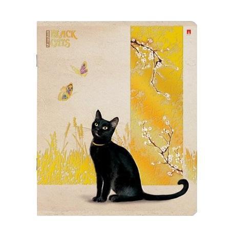 Набор тетрадей Черные кошки, 48 листов, формат А5, 5 шт7-48-648Серия общих тетрадей Черные кошки посвящена миру живой природы. Стильные двойные обложки сделаны из экологически чистого картона. При печати использовано рельефное тиснение для получения объемной, фактурной картинки. Для глянцевого блеска и металлических переливов добавлена отделка золотой фольгой. Полноцветные внутренние форзацы с силуэтами черных кошек продолжают выбранный стиль оформления. На развороте также есть поле для личных данных ученика. Внутренние блоки содержат по 48 листов. Используется гладкая белая бумага наивысшего качества. Линовка в клетку совпадает с обеих сторон каждого листа.