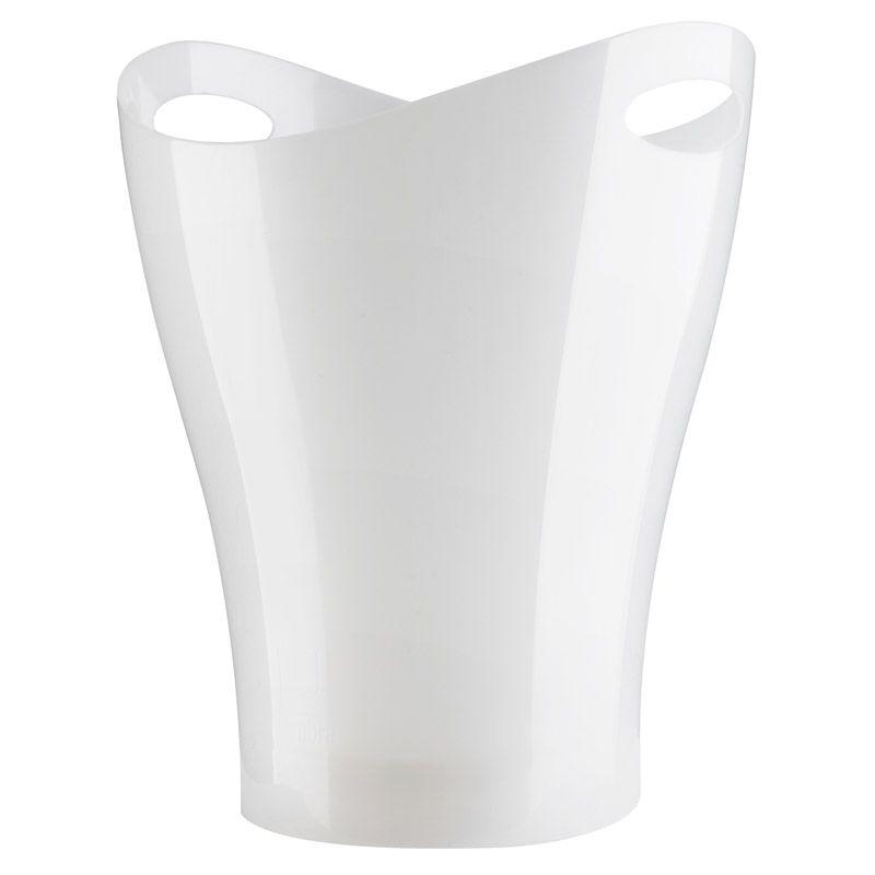 Контейнер мусорный Garbino белый металлик