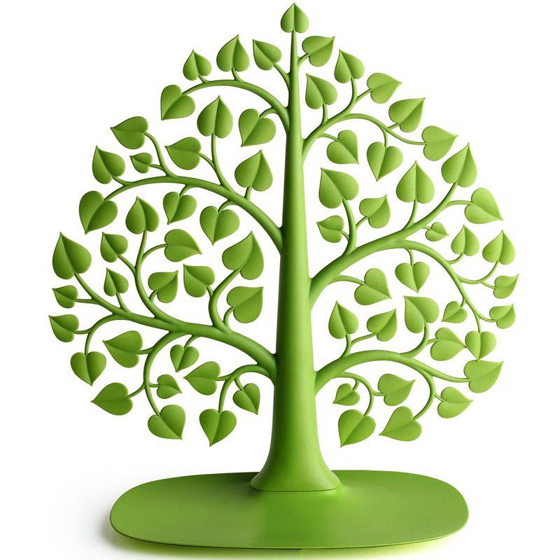 Держатель для украшений Bodhi Дерево, цвет: зеленый, 33 х 15 х 37 смQL10173-GNОригинальный держатель для украшений Bodhi Дерево выполнен из прочного гибкого пластика в виде дерева с ветками и листвой. Все, что нужно - просто поместить на ветки кулоны, серьги, клипсы, браслеты - и вы сможете находить их за три секунды. А тяжелые часы или массивные украшения можно сложить в поддон у основания органайзера. Благодаря своей практичности и необычности держатель Bodhi Дерево станет не только идеальным подарком представительнице прекрасного пола, но и изысканным украшением интерьера.