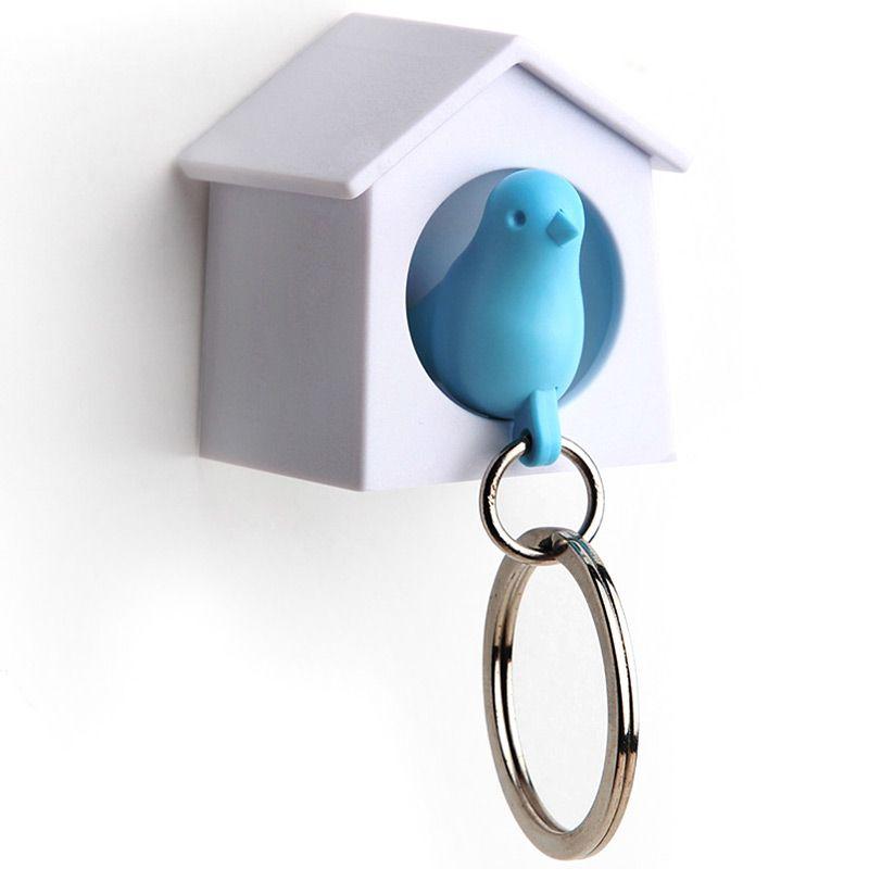 Держатель+брелок для ключей Mini Sparrow голубой