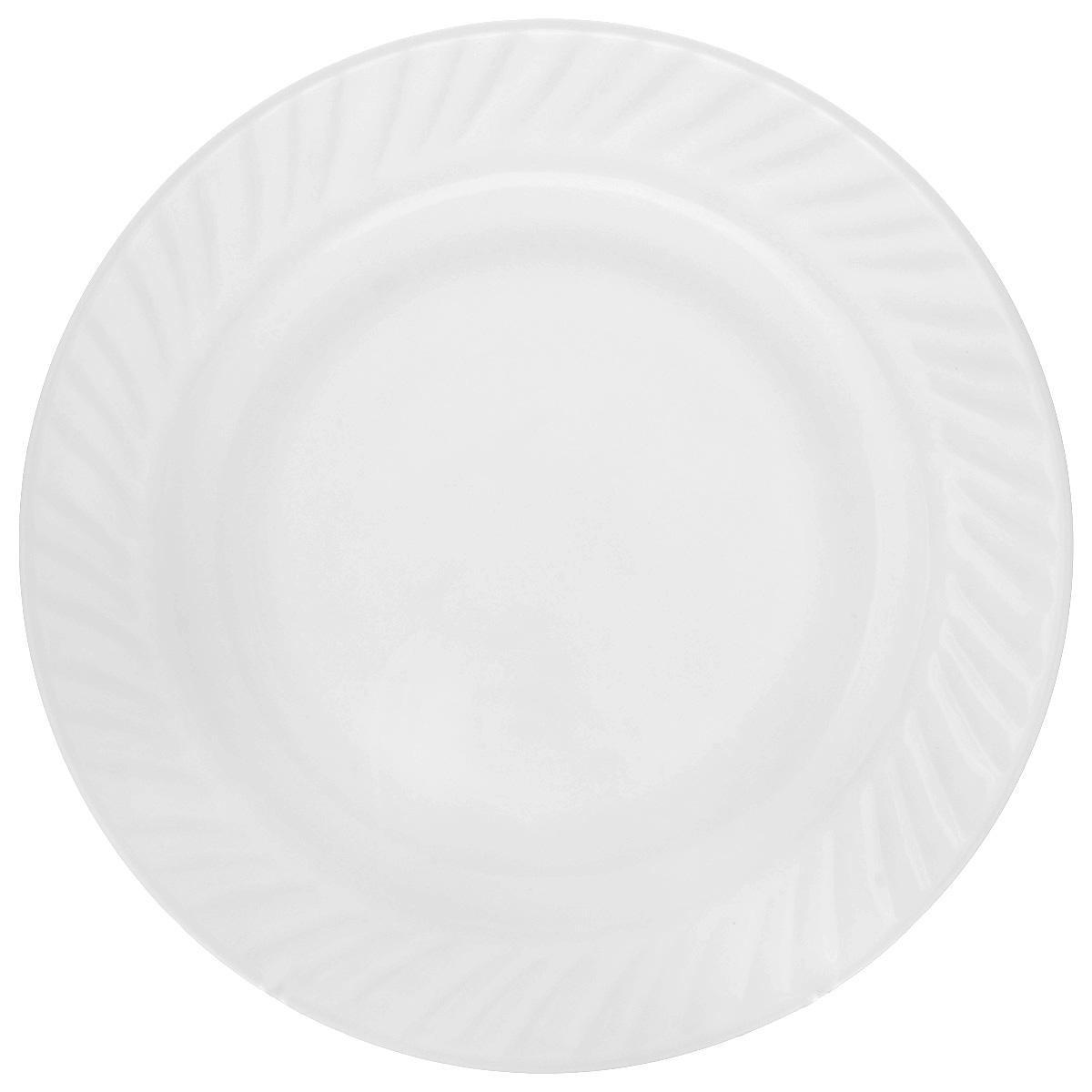 Блюдо House & Holder, цвет: белый, диаметр 25 смHP-100Блюдо House & Holder, изготовленное из керамики, отлично подойдет для красивой сервировки различных блюд. Такое блюдо придется по вкусу и ценителям классики, и тем, кто предпочитает утонченность и изысканность. Диаметр: 25 см. Высота: 2,5 см.