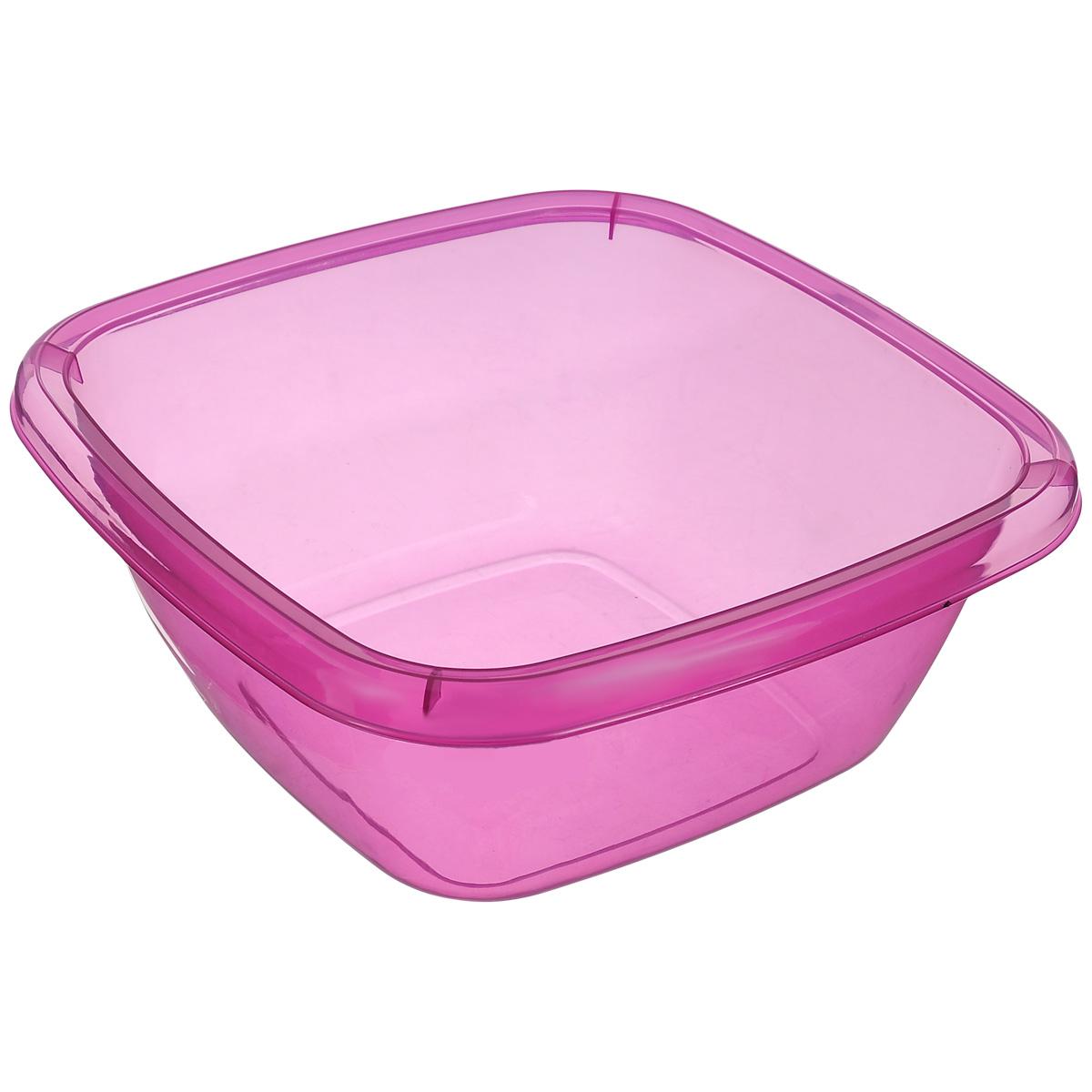 Миска Dunya Plastik, цвет: фиолетовый, 4 л10126_фиолетовыйМиска Dunya Plastik изготовлена из прозрачного пластика, имеет квадратную форму. Такая миска прекрасно подойдет для хранения овощей и фруктов, сервировки салатов и других продуктов. Объем: 4 л. Размер (по верхнему краю): 25 см х 25 см. Высота стенки: 10 см.