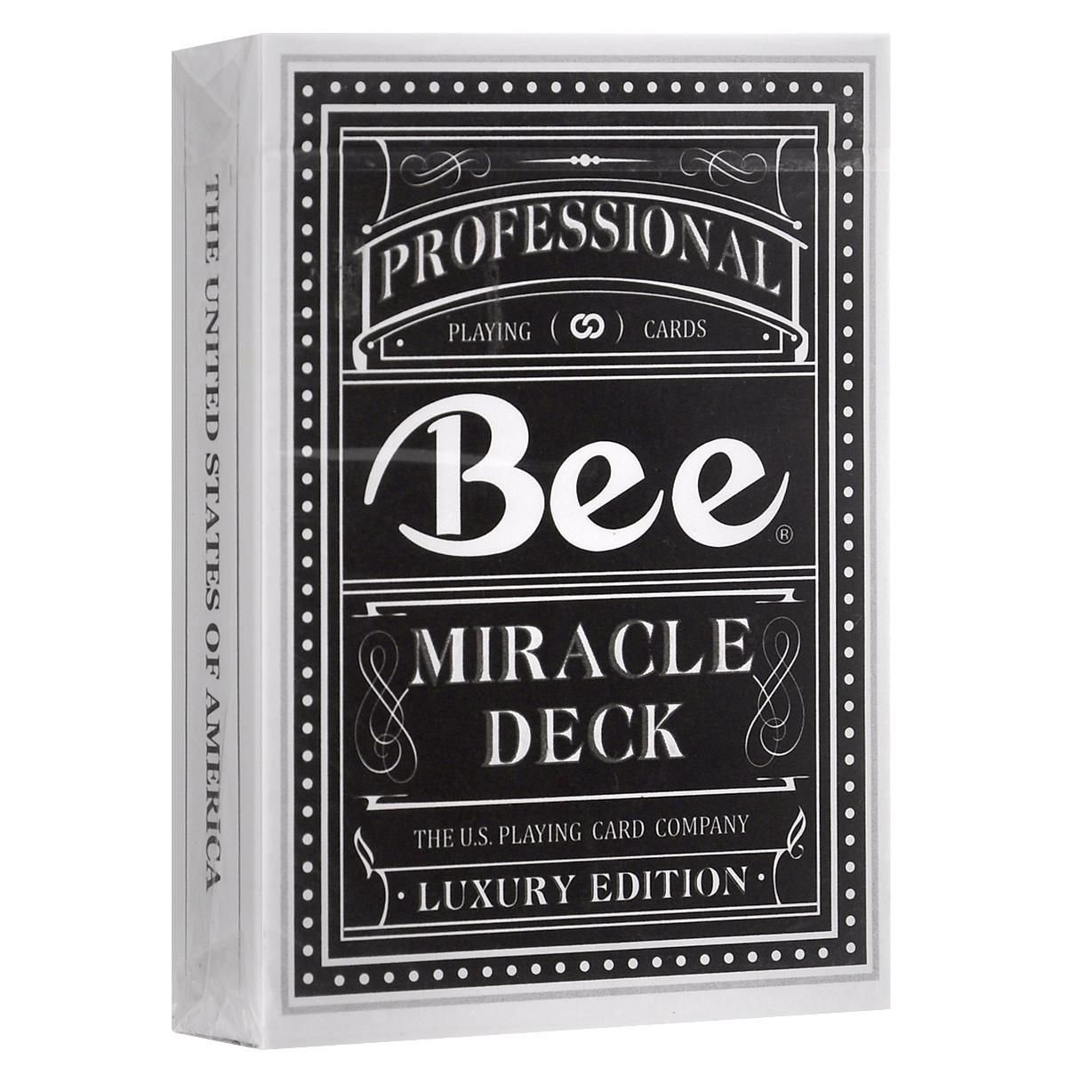 Игральные карты Bee Magic 8, цвет: черныйК-337Колода изготовлена специально для крупнейшей магической ассоциации Китая. За основу взят дизайн карт Bee. Magic 8 - одна из наиболее надежных платформ в мире магии, и насчитывает более 20 000 участников. Ее основателем является всемирно известный фокусник Лю Чен.