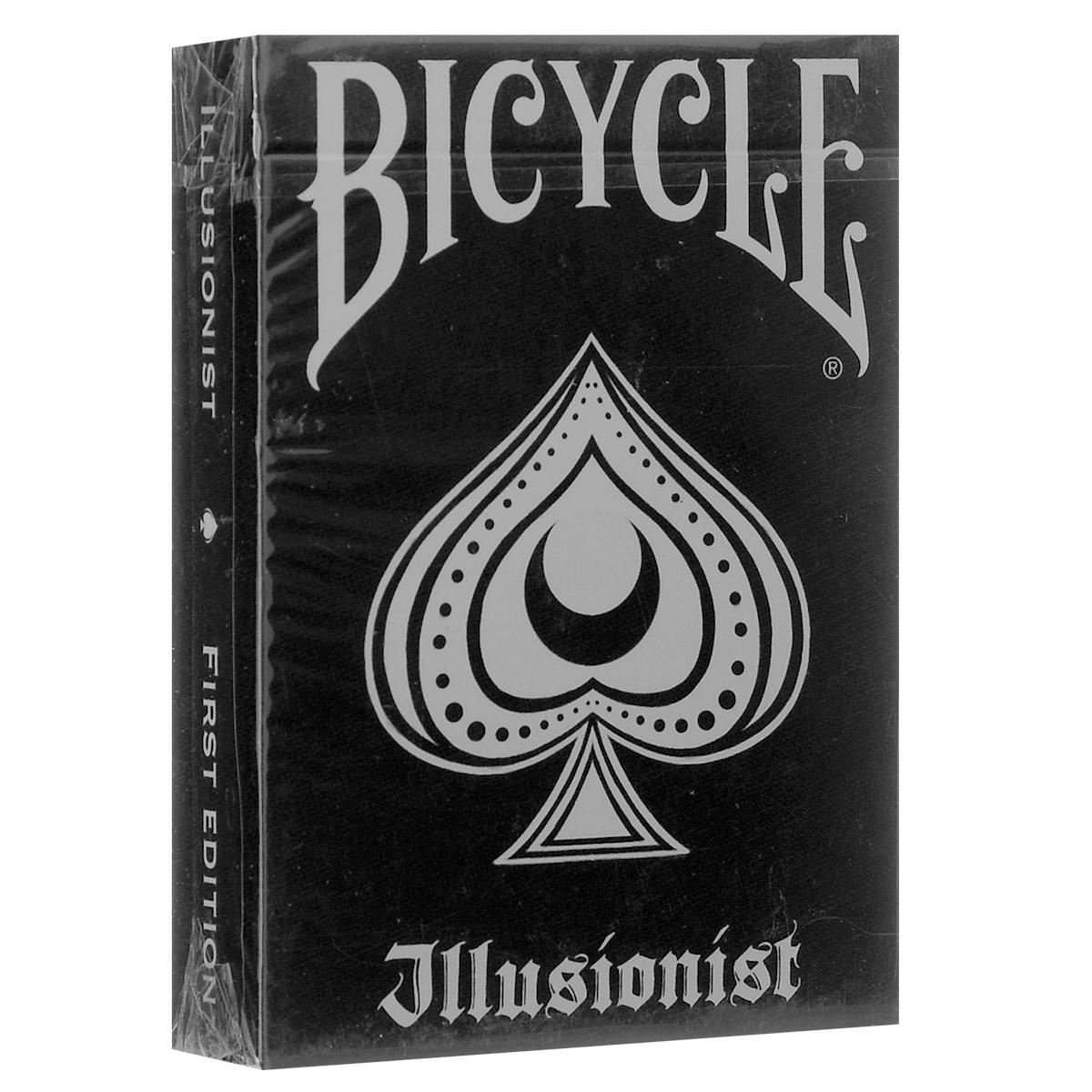 Игральные карты Bicycle Иллюзионист, цвет: черный, серыйК-446Уникальный дизайн каждой карты этой колоды посвящен фокусникам, иллюзионистам и любителям кардистри.