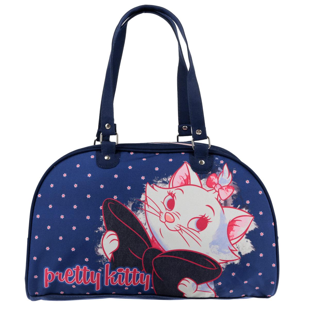 Сумочка Marie Cat, цвет: темно-синий. MCCB-UT1-4034MCCB-UT1-4034Стильная сумочка Marie Cat порадует любую модницу и поклонницу мультфильма. Сумочка имеет одно вместительное отделение, закрывающееся на молнию. Лицевая сторона сумочки оформлена изображением очаровательной кошечки. Она оснащена ручками для переноски в руке. Высота ручек 20 см. Каждая юная поклонница популярного мультфильма будет рада такому аксессуару. Предназначено для детей 7-10 лет.
