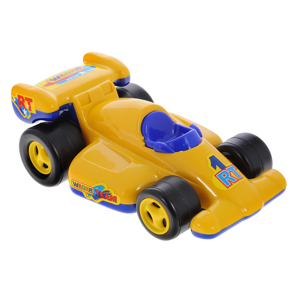 Полесье Машинка Формула цвет желтый синий8961_желто/синийМашинка Полесье Формула привлечет внимание вашего малыша и не позволит ему скучать! Игрушка выполнена из яркого полипропилена в виде гоночного болида. Колеса машинки широкие и устойчивые, что позволяет играть с ней на любых поверхностях. Размер машинки идеален для маленьких детских ручек. Такая игрушка поможет малышу развить мелкую моторику рук, координацию движений, фантазию, воображение и цветовое восприятие.