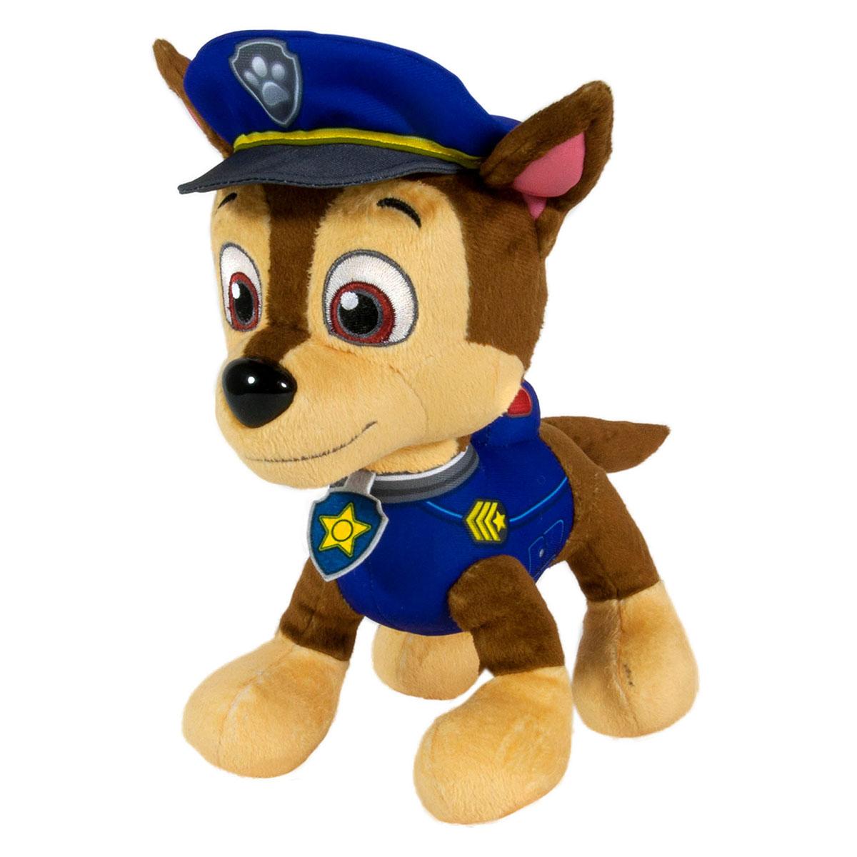 Мягкая игрушка Щенячий патруль Полицейский Chase, 22 см16607Мягкая игрушка Щенячий патруль Полицейский Chase понравится вашему малышу. Игрушка выполнена в виде щенка Чейза из популярного мультсериала Paw Patrol (Собачий патруль). Игрушка изготовлена из текстильного материала; глазки, брови и ротик вышиты нитками, носик - пластиковый. Оригинальный стиль и великолепное качество исполнения делают эту игрушку чудесным подарком к любому празднику, а жизнерадостный образ представит такой подарок в самом лучшем свете.