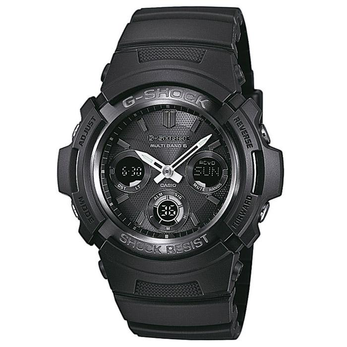 Наручные часы Casio AWG-M100B-1AAWG-M100B-1AУдаропрочные наручные часы Casio AWG-M100 с функцией приема радиосигнала для установки точного времени.
