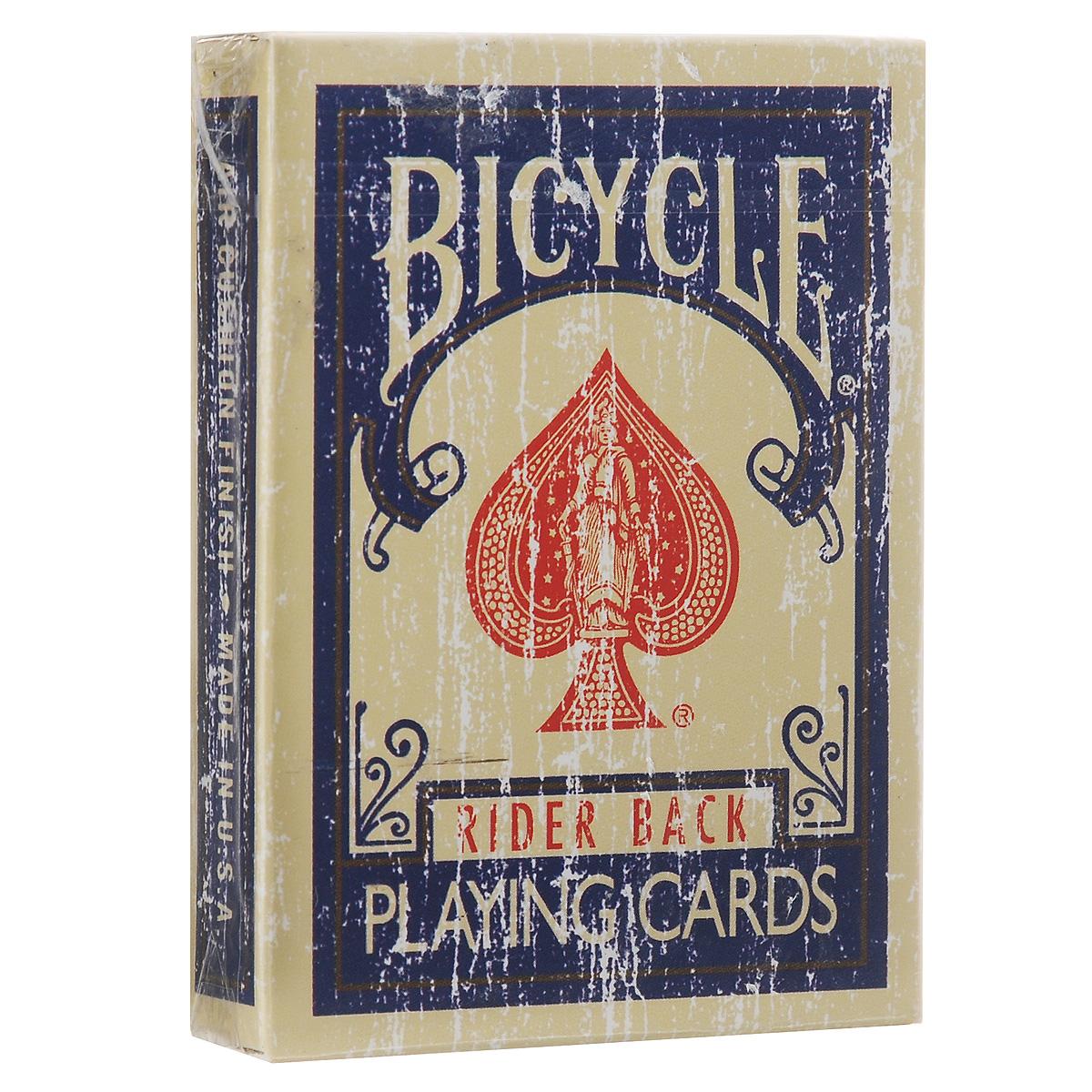 Игральные карты Bicycle Faded Deck, цвет: темно-синийК-038Игральные карты Bicycle Faded Deck станут прекрасным подарком для всех любителей карточных игр. Карты этой оригинальной колоды имеют стильный и реалистичный старинный вид. Такие карты подходят для фокусов, покера и любых других карточных игр. Идеальный вариант как для новичков, так и для профессионалов. В колоду добавлены специальные карты, предназначенные для фокусов.