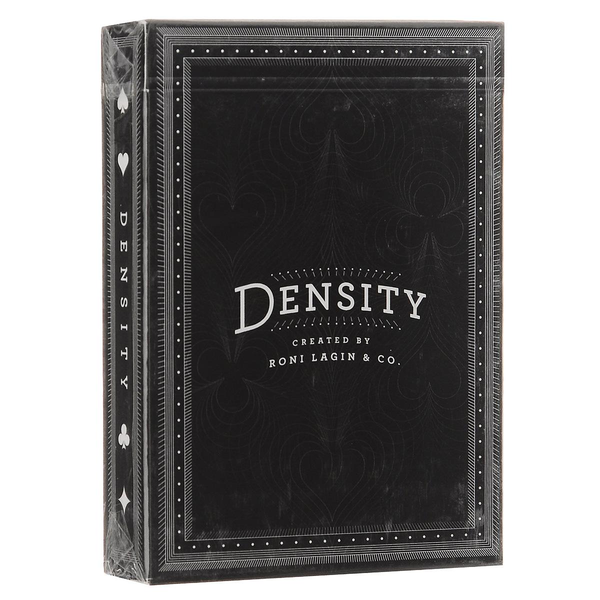 Игральные карты Bicycle Density, цвет: черный, 52 штК-327Колода игральных карт Density - ограниченный выпуск дизайнерской колоды, построенной на пересечении фигур и линий. Мелкие детали, тонкие линии, уникальные карты - эта колода непременно заинтересует игроков, коллекционеров, фокусников и энтузиастов карточного дела. В колоде 52 игральных карты, два Джокера и карточная коробка.