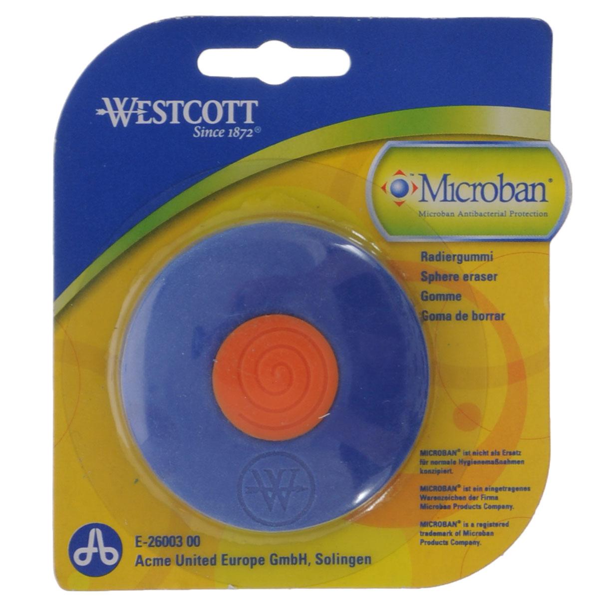 Ластик Westcott, с антибактериальным покрытием, цвет: синийЕ-26003 00Нас окружает огромное количество бактерий, многие из которых не безопасны, поэтому все большее число товаров выпускается со встроенной антибактериальной защитой. Яркий, двухцветный ластик со встроенной антибактериальной защитой Microban легко и без следа удаляет надписи, сделанные карандашом. Для более точного удаления имеет заостренные края. Эффективность защиты Microban подтверждена множеством лабораторных исследований по всему миру. Эффективен против широкого спектра грамположительных и грамотрицательных бактерий и грибков, таких как: сальмонелла, золотистый стафилококк и другие, которые вызывают заболевания, сопровождающиеся расстройством кишечника и грибковыми заболевания. (Всего около 100 микроорганизмов). Ластик сохраняет свои свойства после мытья и в случае механического повреждения изделия. Антибактериальные свойства не исчезают со временем и не снижают свою эффективность. Microban абсолютно безвреден для людей и животных, не вызывает аллергии.