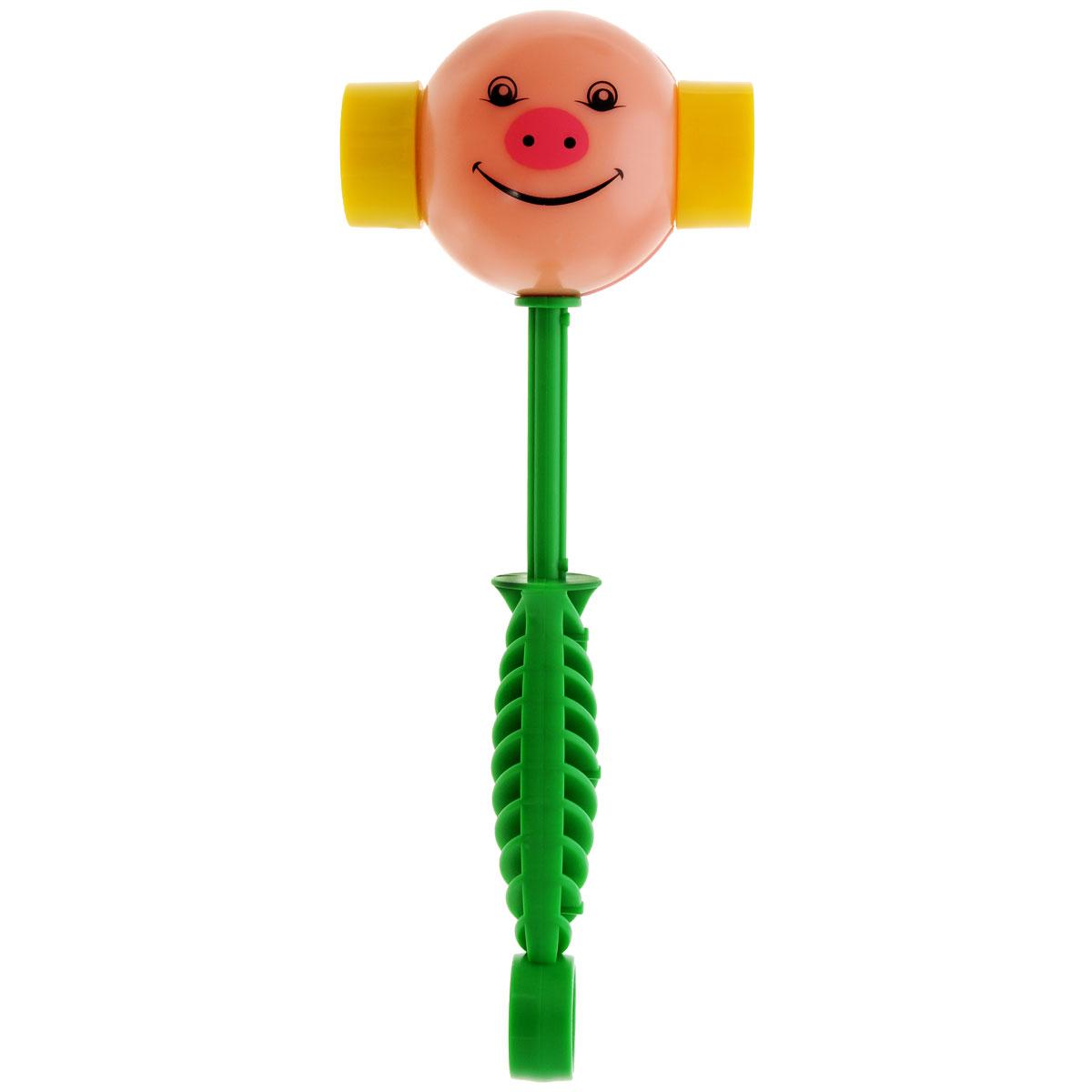 Развивающая игрушка Stellar Веселый молоточек, цвет: розовый, зеленый01362