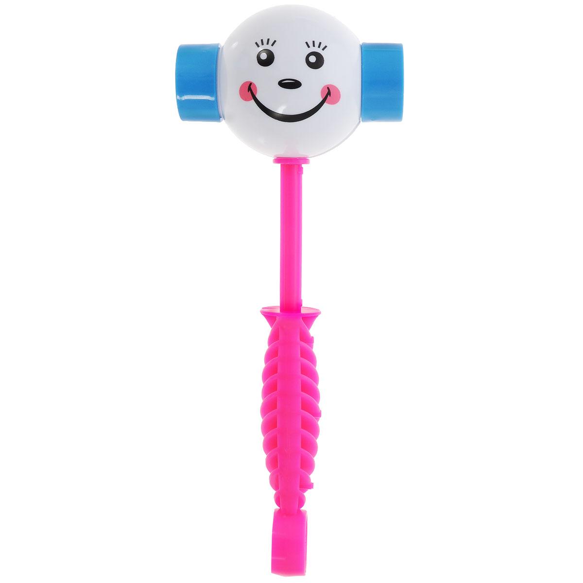 Развивающая игрушка Stellar Веселый молоточек, цвет: розовый, белый01362