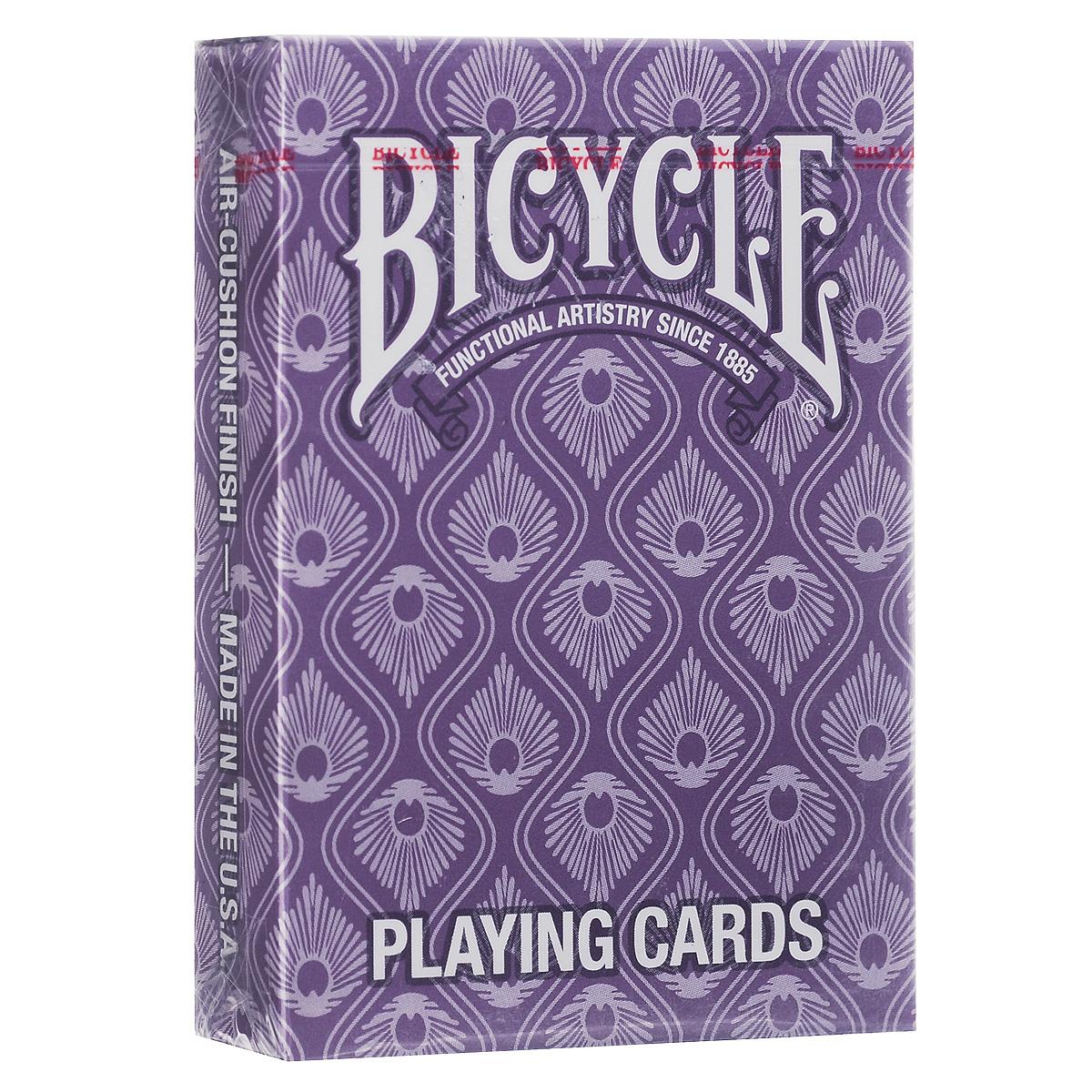Игральные карты Bicycle Павлинья колода, цвет: фиолетовыйК-318Игральные карты Bicycle Павлинья колода - это стиль и талант. Доступна в двух цветах с повторяющимся мотивом павлиньих перьев.
