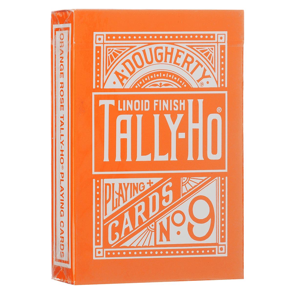 Игральные карты Tally-Ho Reverse Fan back, цвет: оранжевыйК-365Карты Tally-Ho считаются самыми лучшими картами для слейтинга. Их великолепное качество высоко оценили лучшие карточные манипуляторы и фокусники. Это классические карты с полноцветной печатью. В комплекте две специальные карты (карта с пустым лицом и карта с изображением розы).