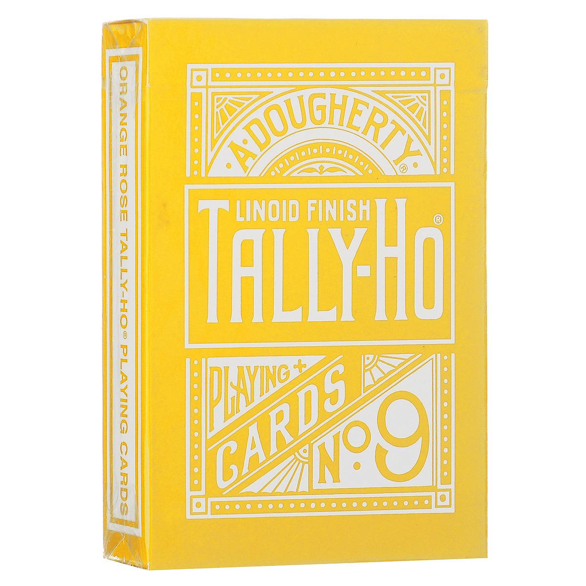 Игральные карты Tally-Ho Reverse Fan back, цвет: желтыйК-363Карты Tally-Ho считаются самыми лучшими картами для слейтинга. Их великолепное качество высоко оценили лучшие карточные манипуляторы и фокусники. Это классические карты с полноцветной печатью. В комплекте две специальные карты (карта с пустым лицом и карта с изображением розы).