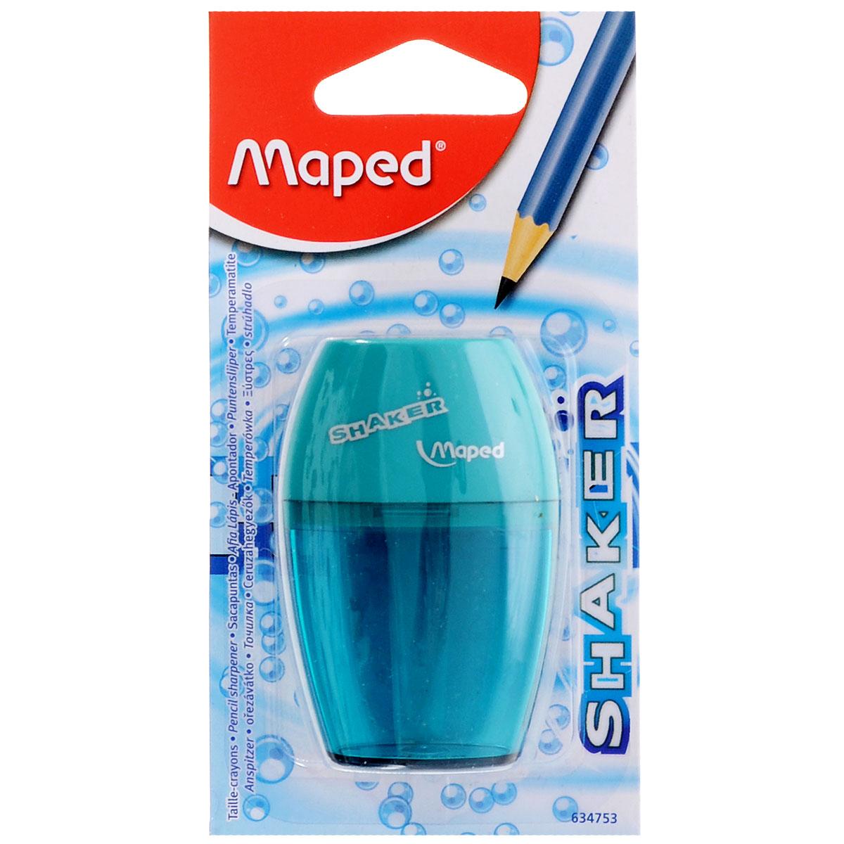 Maped Точилка Шейкер с контейнером цвет бирюзовый