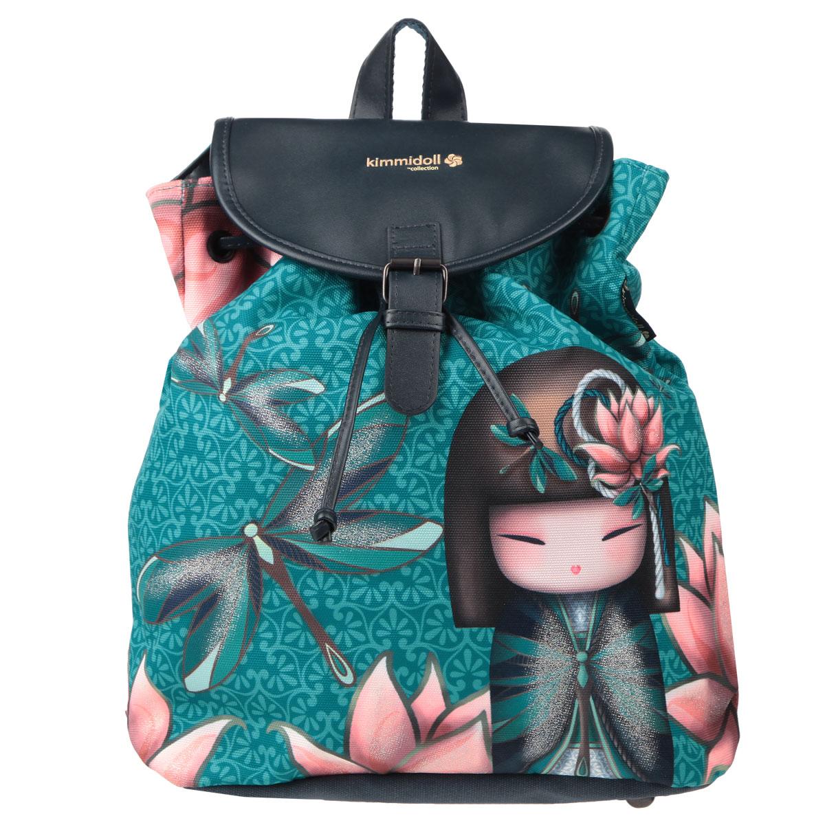 Рюкзак детский Kimmidoll, цвет: бирюзовыйKMBB-UT1-538С рюкзаком Kimmidoll можно отправиться в поход по магазинам, на учебу или покорять модные вершины, он сочетает в себе совершенный стиль и практичность. Во вместительное отделение рюкзака можно положить все необходимое и даже немного больше. Отделка выполнена качественной подкладочной тканью. Внутри предусмотрены два кармана для мелочей: один потайной на молнии, второй - открытый. Рюкзак затягивается шнурком и закрывается крышкой-клапаном на защелке. Лямки рюкзака свободно регулируются по длине, обеспечивая удобство и комфорт, ручка сверху позволяет с легкостью носить его в руках. На дне расположены небольшие металлические ножки. А гармоничное сочетание в отделке сатина и экокожи подчеркивает индивидуальность изделия и станет идеальным дополнением вашего повседневного образа.