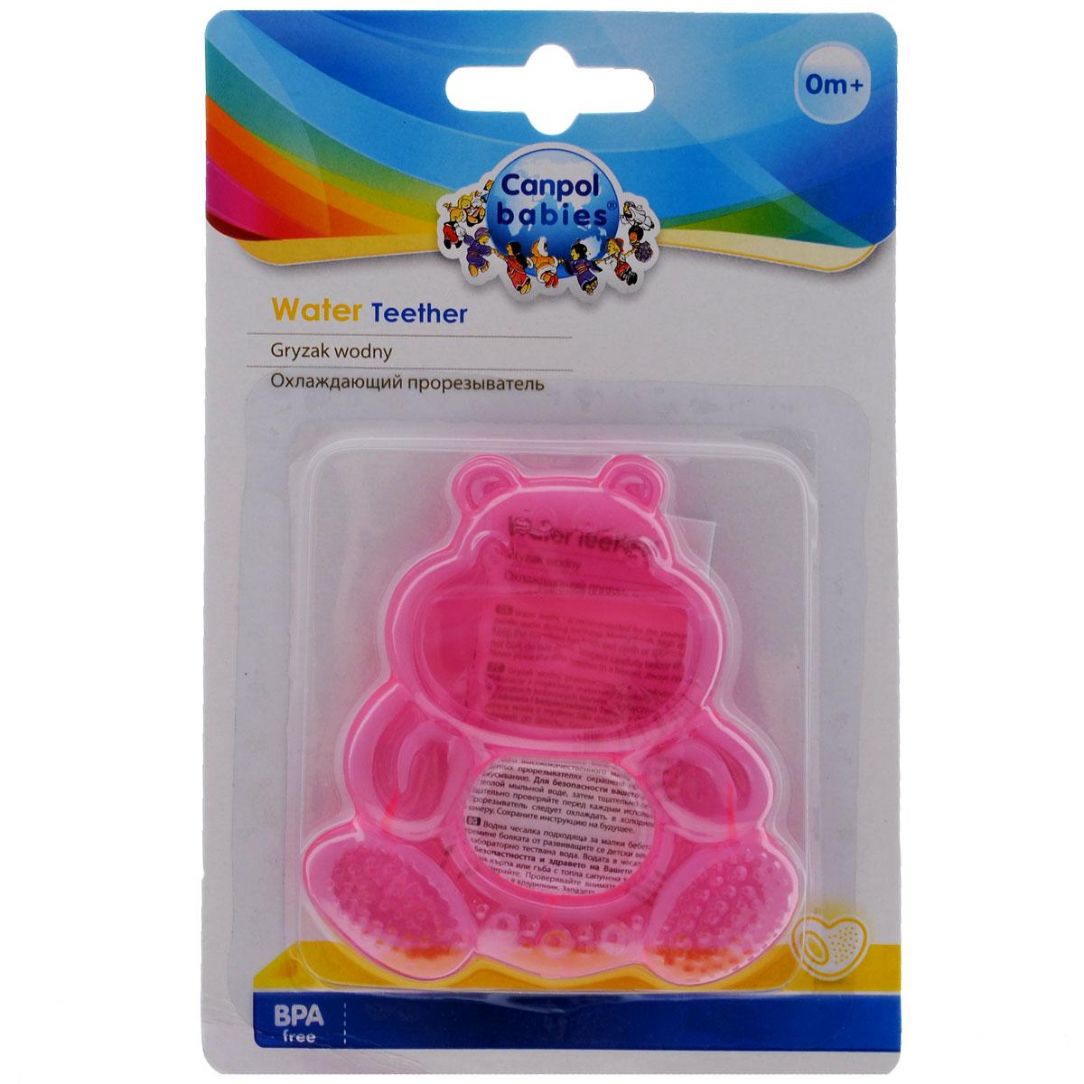 Прорезыватель Canpol Babies Бегемот, охлаждающий, цвет: розовый