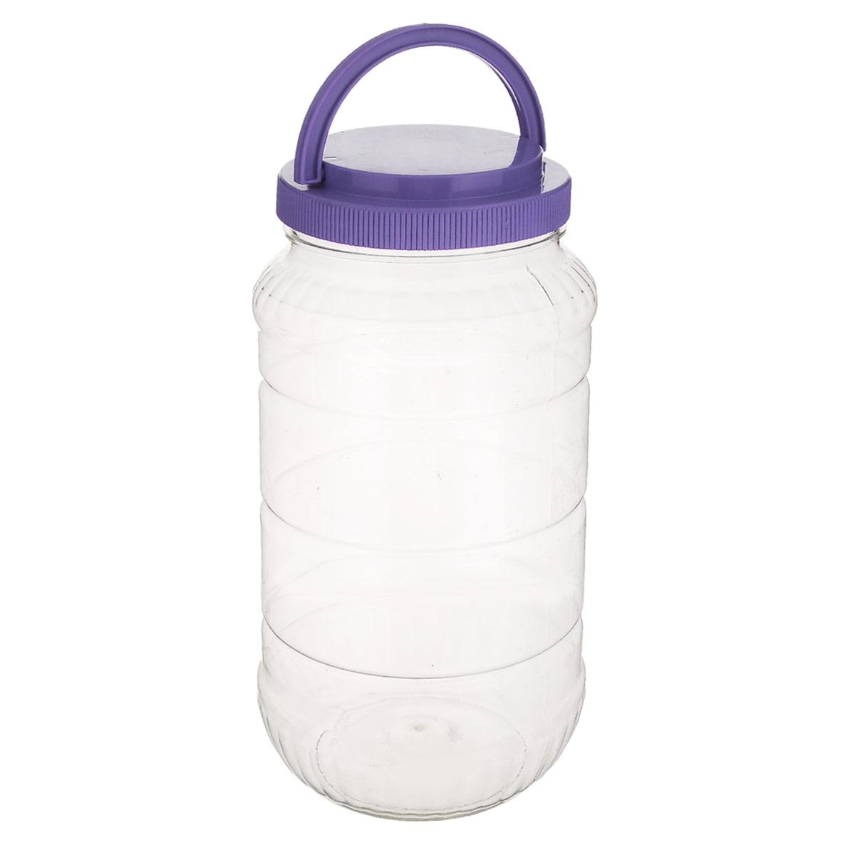 Емкость Альтернатива, с ручкой, цвет: фиолетовый, 3 лM957_ фиолетовыйЕмкость Альтернатива предназначена для хранения сыпучих продуктов или жидкостей. Выполнена из высококачественного пластика. Оснащена ручкой для удобной переноски. Ручка опускается. Диаметр: 10,5 см. Высота (без учета крышки): 25 см.