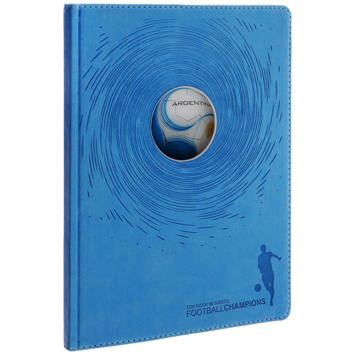 Тетрадь Альт Футбольный мяч. Аргентина, 96 листов, формат А5+, цвет: голубой7-96-877