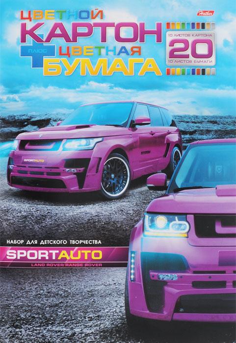 Набор для творчества Spotr Auto, цветной картон, цветная бумага. Формат А420НКБ4_11801Набор для творчества Spotr Auto позволит вашему ребенку создавать всевозможные аппликации и поделки. В набор входят 10 листов цветного картона (желтый, серебристый, серовато-оливковый, оранжевый, красный, голубой, синий, зеленый, коричневый, черный) и 10 листов цветной бумаги (желтый, голубой, зеленый, серебристый, оранжевый, красный, золотистый, темно-синий, коричневый, черный). Листы картона и бумаги упакованы в оригинальную картонную папку, оформленную рисунком с изображением автомобилей. Работа с набором для творчества Spotr Auto  развивает мелкую моторику, усидчивость, внимание, фантазию и творческие способности. С таким превосходным материалом ваш ребенок сможет заниматься творчеством круглый год!