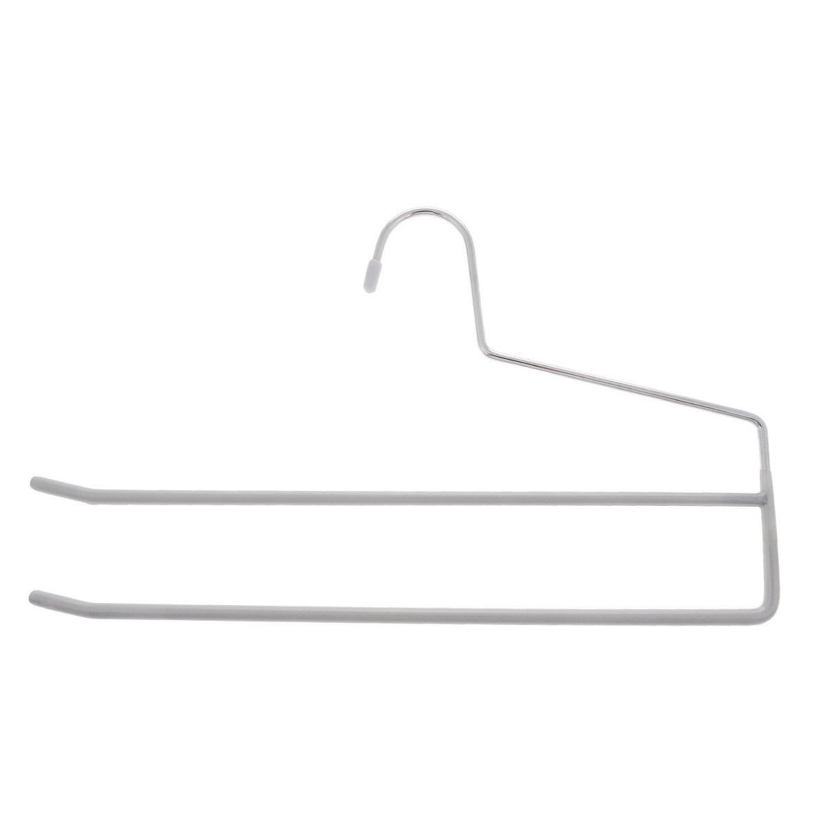 Вешалка для брюк Metaltex, цвет: серый, 2 уровня, длина 34,5 см55.21.06_серый_серыйВешалка для брюк Metaltex, выполненная из металла, представляет собой две перекладины, располагающиеся друг над другом. Каждая перекладина имеет противоскользящее полимерное покрытие. Такая вешалка прекрасно подойдет для подвешивания брюк. Вешалка - это незаменимая вещь для того, чтобы ваша одежда всегда оставалась в хорошем состоянии.