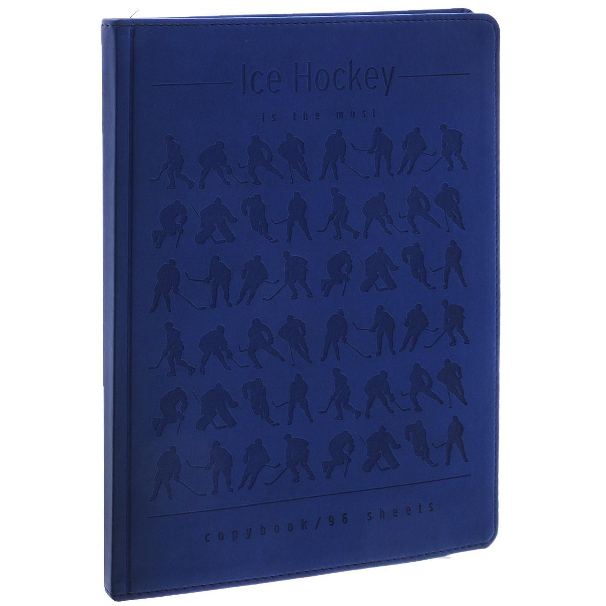 Тетрадь Альт Ice Hockey, 96 листов, формат А5, цвет: синий7-96-968