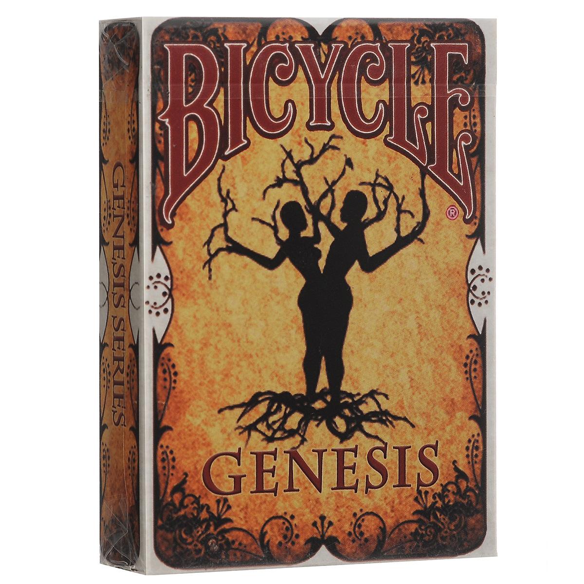 Игральные карты Bicycle Карты зарождения, цвет: коричневыйК-358В основе этой колоды лежит первая часть Библии. Оригинальный дизайн очень понравится коллекционерам. В комплекте одна гафф карта и три джокера.