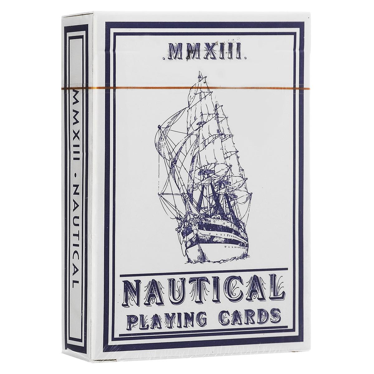Навигационные игральные карты House of Playing Cards, цвет: синийК-317Навигационная колода - детище художника Эдо Хуана, по дизайну напоминающая классические колоды Bee. Все в этой колоде вдохновлено морем. Джокер-корабль завершает композицию из якорных канатов, которые являются связующим элементом всех карт колоды. Чем больше карты используются, тем удобнее с ними выступать. В каждой колоде вы найдете специальную дизайнерскую карту.