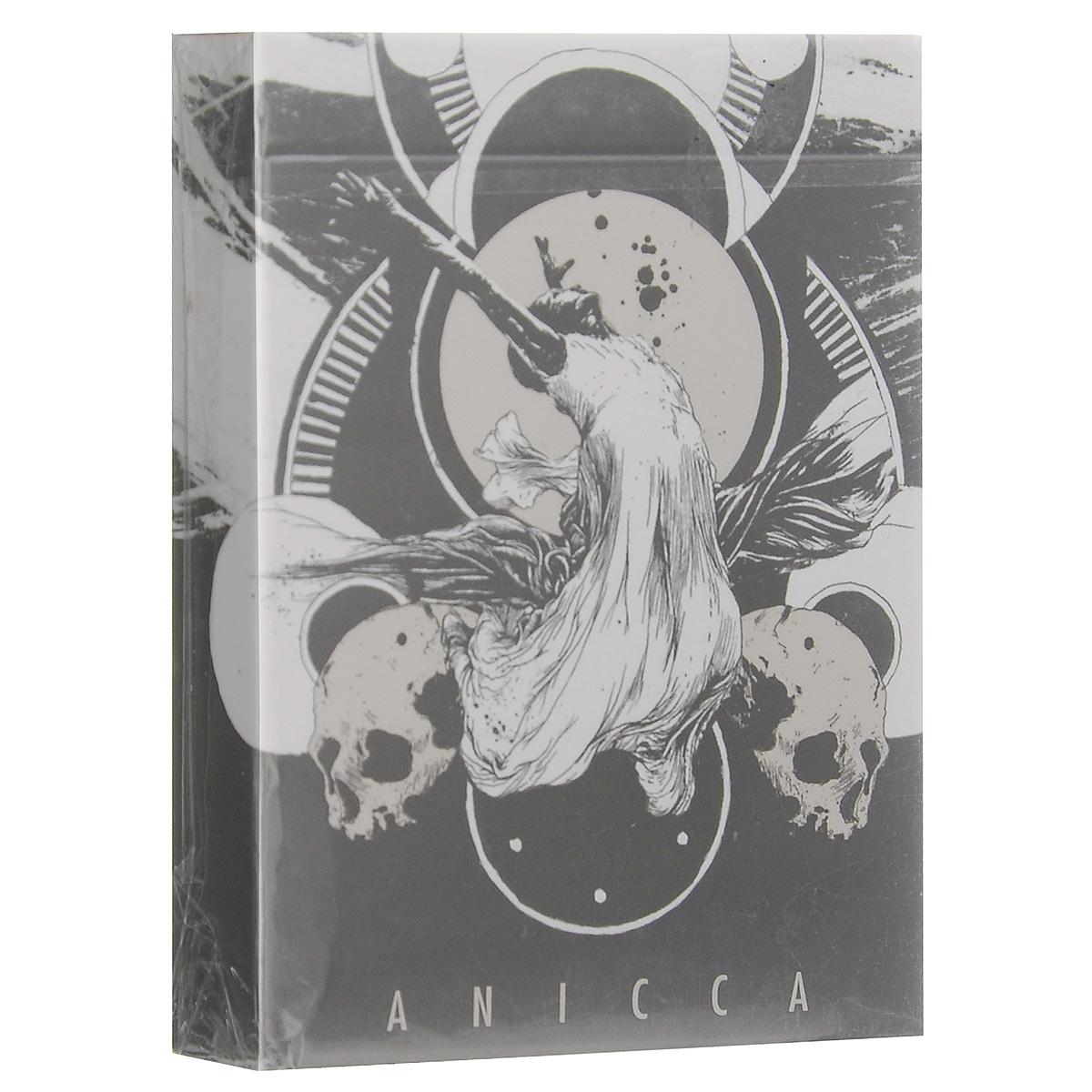 Игральные карты Anicca, цвет: серебряныйК-426Игральные карты Anicca изготовлены на лучшей бумаге завода USPCC, это делает их невероятно приятными и изящными.