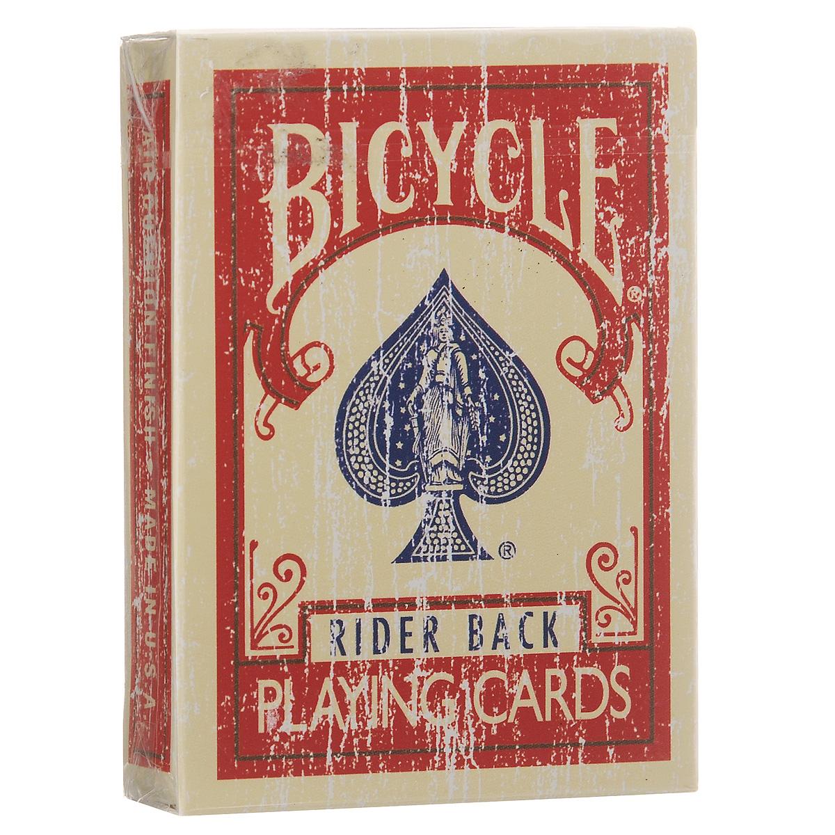 Игральные карты Bicycle Faded Deck, цвет: красныйК-039Игральные карты Bicycle Faded Deck станут прекрасным подарком для всех любителей карточных игр. Карты этой оригинальной колоды имеют стильный и реалистичный старинный вид. Такие карты подходят для фокусов, покера и любых других карточных игр. Идеальный вариант как для новичков, так и для профессионалов. В колоду добавлены специальные карты, предназначенные для фокусов.