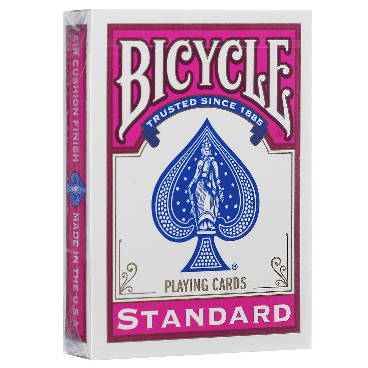 Игральные карты Bicycle Standard, цвет: фуксияК-049Любимые карты в новом цвете! Эти карты напечатаны американской компанией игральных карт и могут использоваться во многих интересных фокусах. Принесите немного цвета в свои представления!
