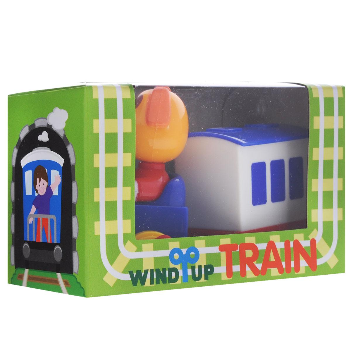 Заводная игрушка Hans Паровозик с вагоном. СобачкаCT-10BD_собачкаЗаводная игрушка Hans Паровозик с вагоном. Собачка с механическим заводом непременно понравится малышу и станет его любимой игрушкой! Игрушка выполнена из безопасного прочного пластика в виде паровозика с собачкой. Заведите игрушку с помощью специального рычажка, и она начнет двигаться. Игра с заводными игрушками способствует приятному времяпрепровождению, стимулирует ребенка к активным действиям, научит устанавливать причинно-следственные связи. Мелкие детали и разнофактурные материалы благоприятствуют развитию тактильных ощущений и моторики пальчиков, а яркие цвета и забавные формы стимулируют зрение.