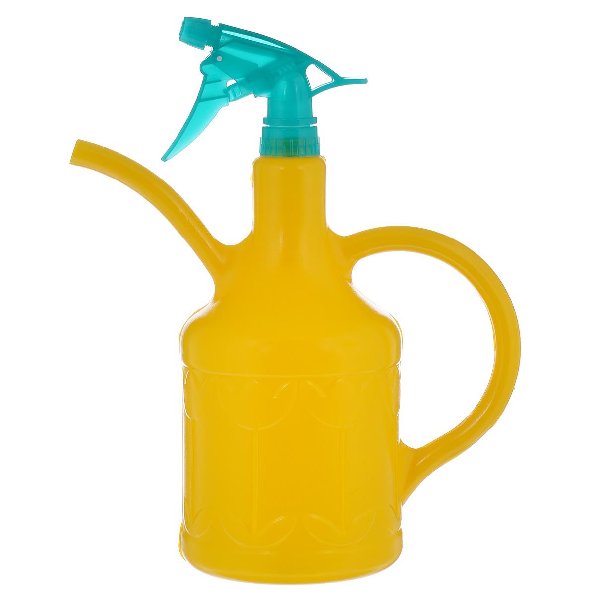 Лейка-опрыскиватель Кострома пластик Тюльпан, цвет: желтый, 1,8 л4607016671093 желтыйЛейка-опрыскиватель Тюльпан выполнена из высококачественного пластика и оформлена рельефным цветочным рисунком. Ее можно использовать для полива, так как она оснащена носиком и удобной ручкой. Также изделие снабжено распылителем для опрыскивания растений.