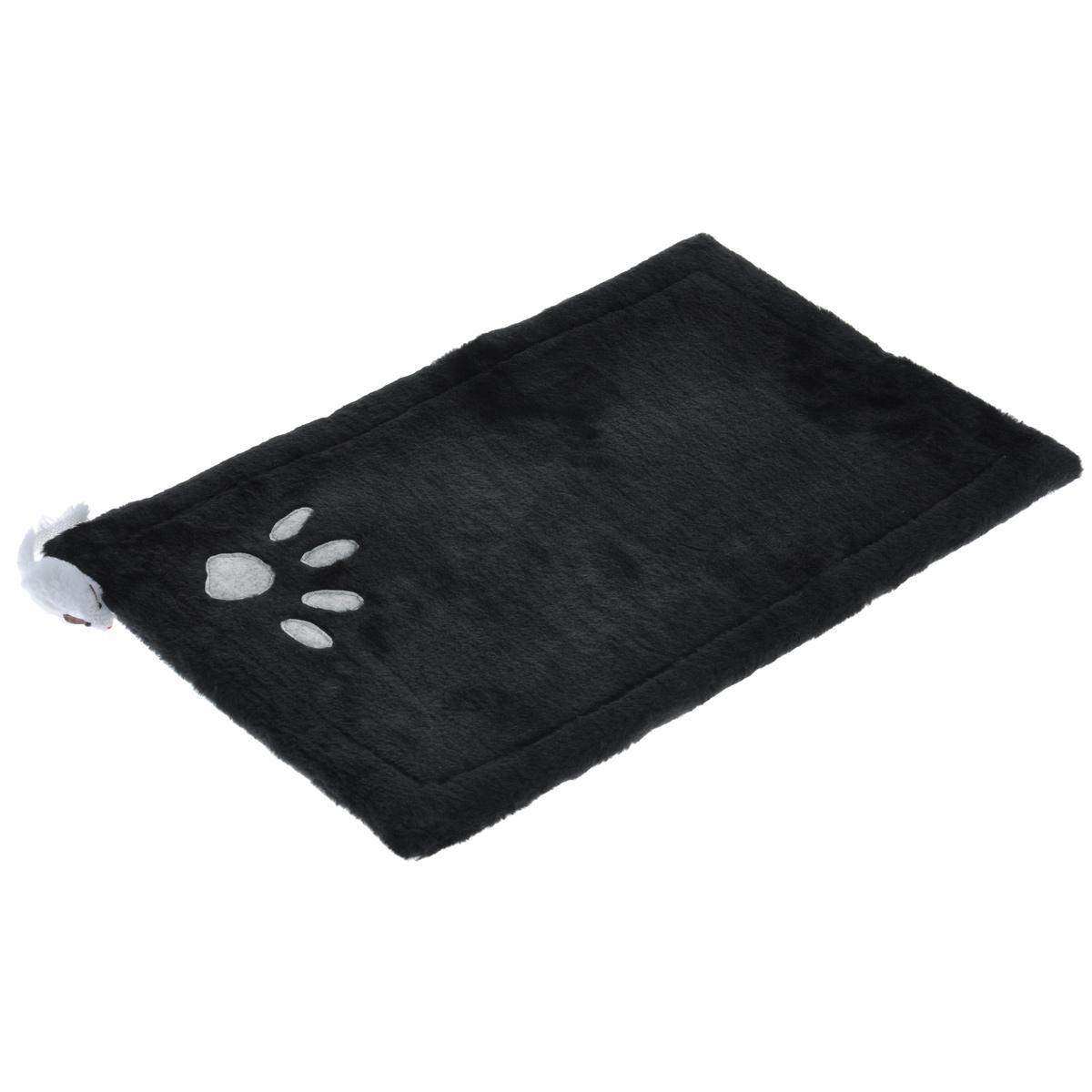 Когтеточка-коврик для кошек I.P.T.S., 0405155 цвет: черный, 48 см х 31 см16462Когтеточка для кошек I.P.T.S. выполнена из сизаля в виде коврика, по краям обитого плюшем. Коврик декорирован следом от лапки и белой мышкой. Когтеточка - один из самых необходимых аксессуаров для кошки. Для приучения к ней можно натереть ее сухой валерьянкой или кошачьей мятой. Коврик-когтеточка для кошек I.P.T.S. станет комфортным и любимым местом вашего питомца.