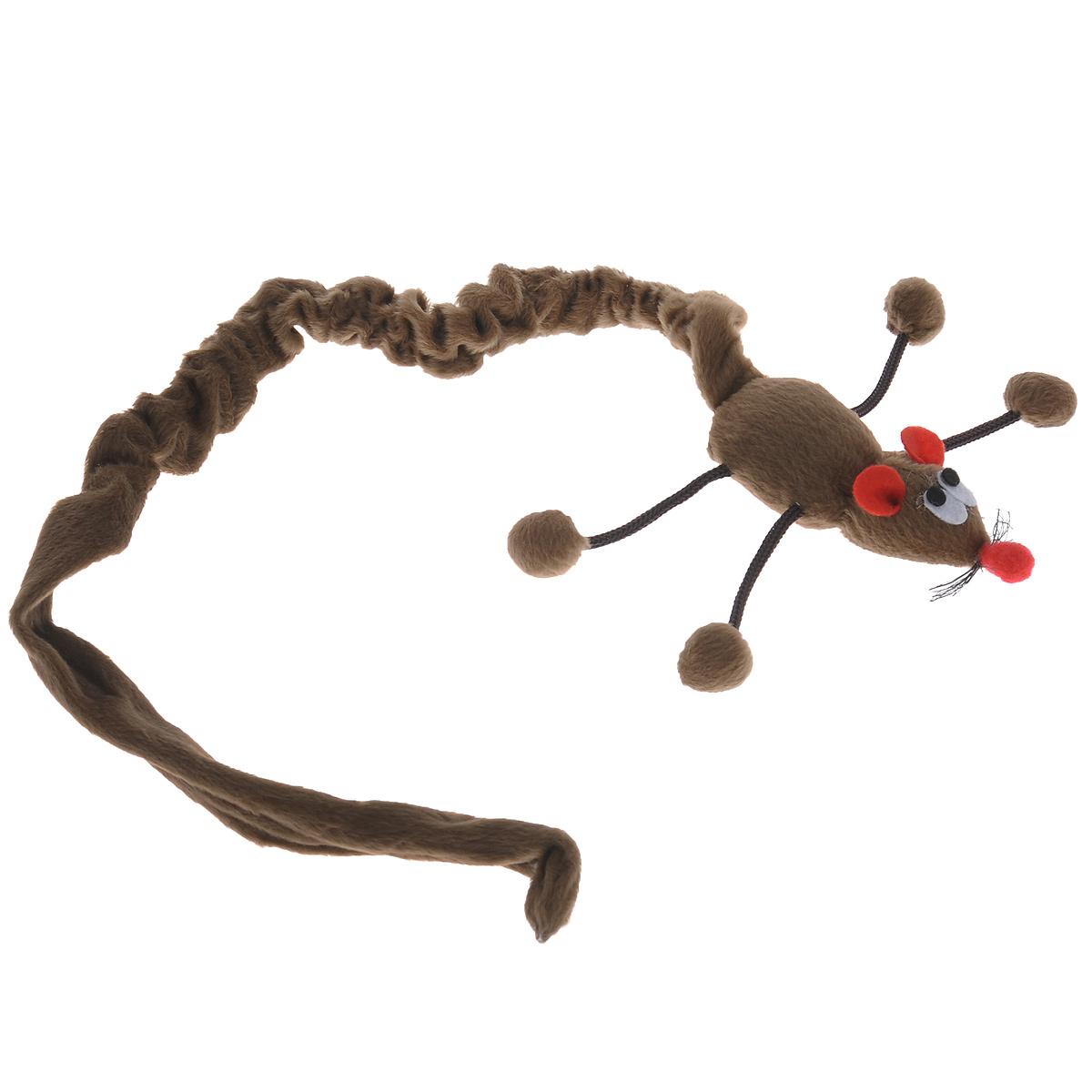 Игрушка для кошек I.P.T.S. Дразнилка-мышь, подвесная, цвет: коричневый, длина 61-86 см430238Игрушка I.P.T.S. Дразнилка-мышь, изготовленная из текстиля, выполнена в виде удочки с подвесной плюшевой мышкой и предназначена для активных игр с кошкой. Такая игрушка не навредит здоровью вашего питомца и увлечет его на долгое время. Длина: 61-86 см.